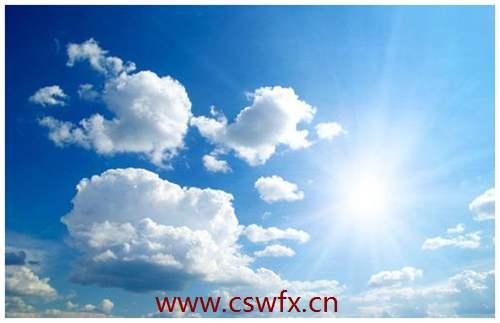 描写蓝天和太阳的句子