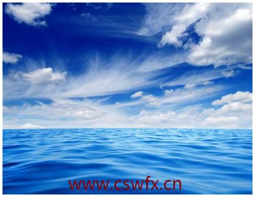 描写天空海洋的句子