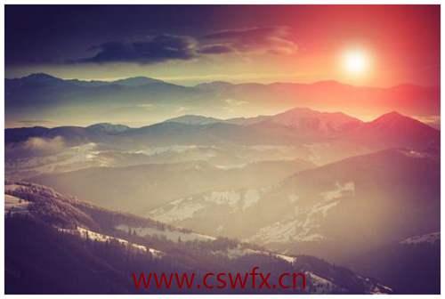 描写山顶美景的句子