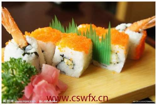 描写寿司的句子