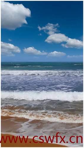描写海面句子