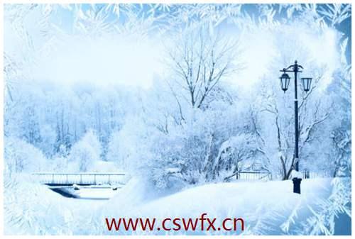 描写雪景的优美古风句子
