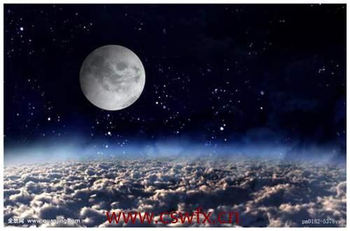 描写月亮星星的句子