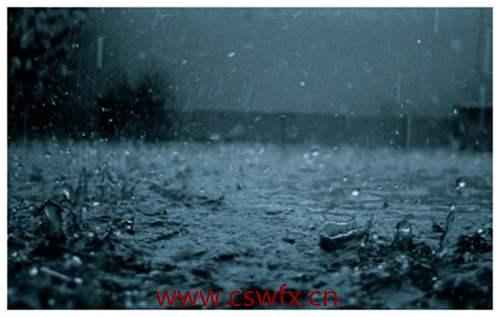 描写下雨冷的句子