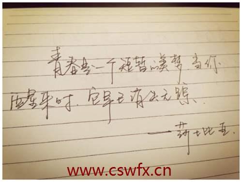 描写青春阳光文艺句子