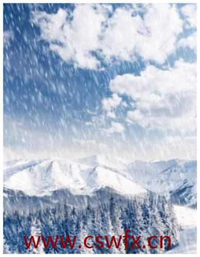 描写冬天晚上雪景的句子