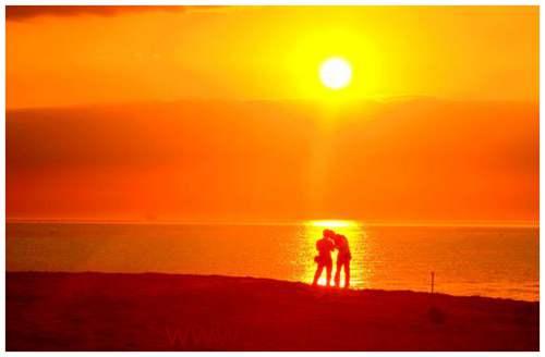 描写夕阳光的句子