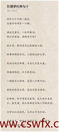 描写红楼梦的经典句子