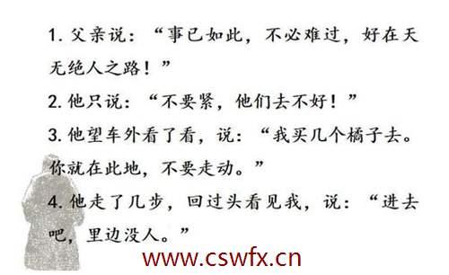描写父爱语言描写的句子