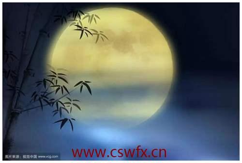 描写中秋月亮的优美句子