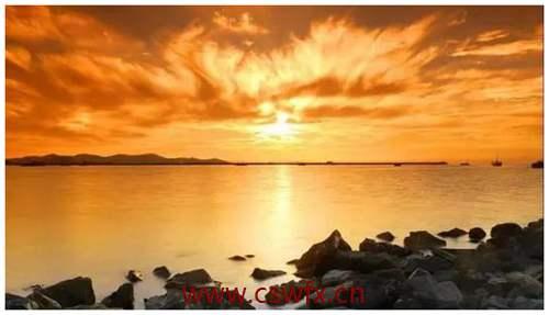 描写唯美夕阳的句子