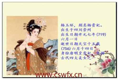 描写杨贵妃的句子