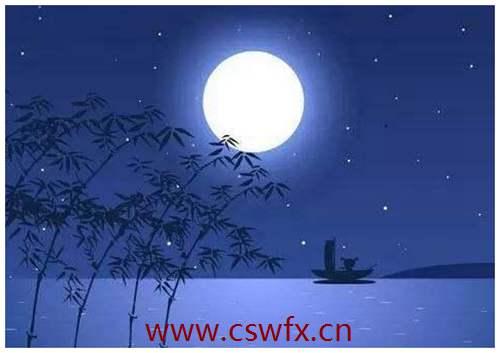 描写月亮和月色句子