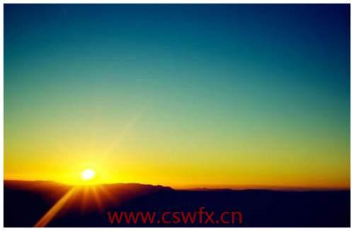 描写清晨太阳的优美句子