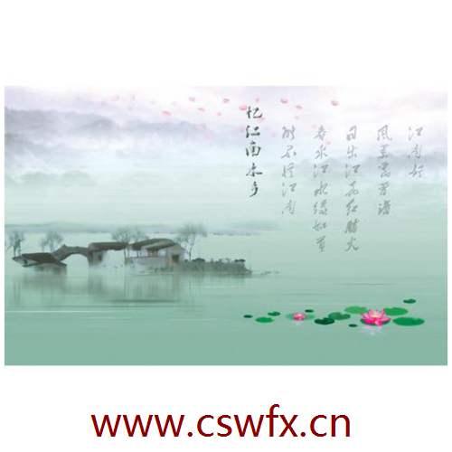 描写江南的风景的句子