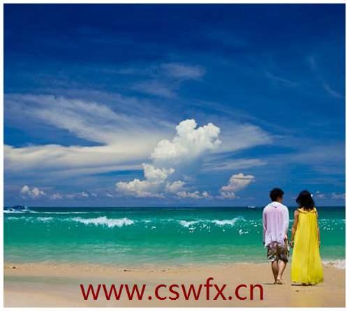 描写海边浪漫的句子