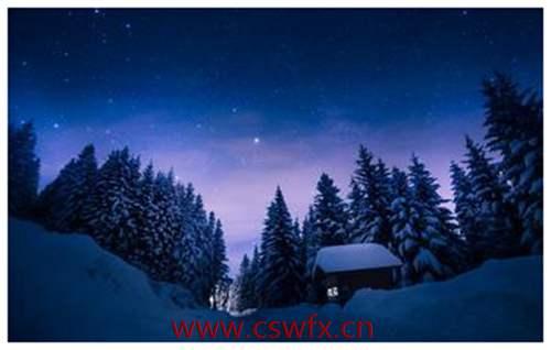 描写冬天夜景句子