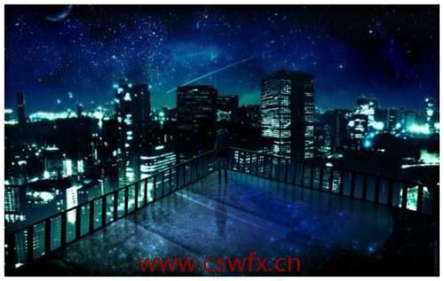 描写晚上的夜景的优美句子