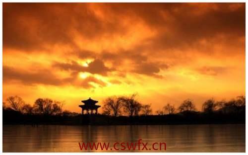 描写夕阳的美景句子