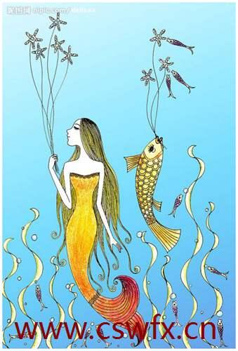 描写美人鱼唯美的句子
