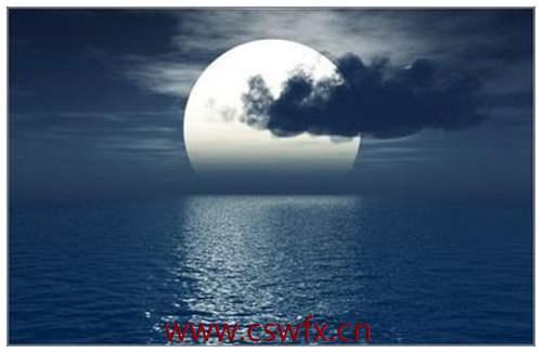 描写海边月亮的优美句子