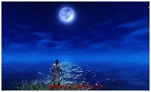描写月光的景色的句子
