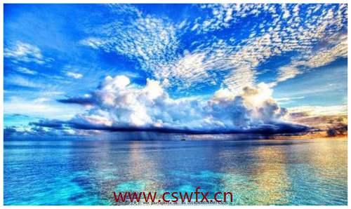 描写天空大海的优美句子